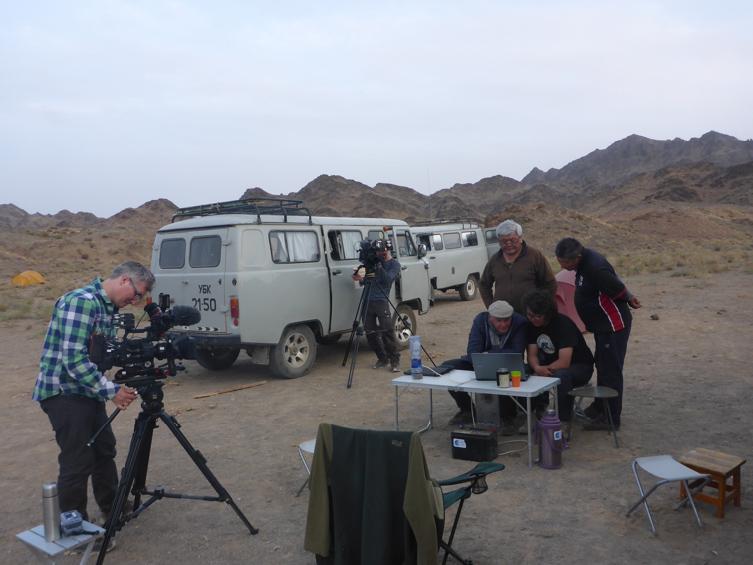 Auf der Spur des Gobibären - Filmteam